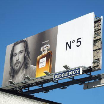 brad pitt chanel5 perfume billboard