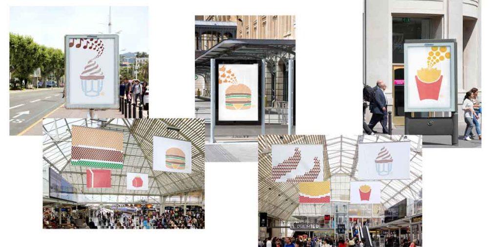 دومین کمپین تبلیغاتی مکدونالدز با پیکتوگرام