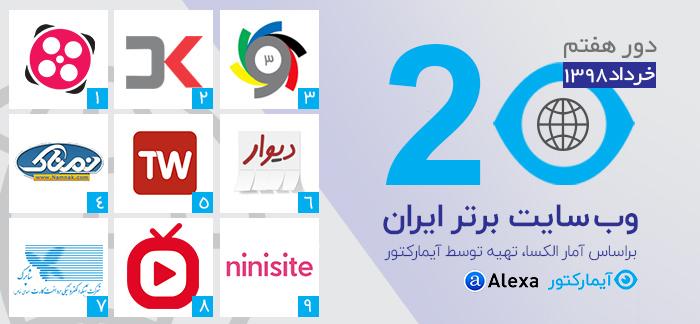9 وب سایت برتر ایران