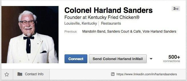 نمونه بازاریابی در لینکدین - KFC