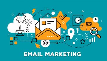 email marketing – orange & teal