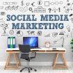 Social Media Marketing / Office / Wall / Symbol