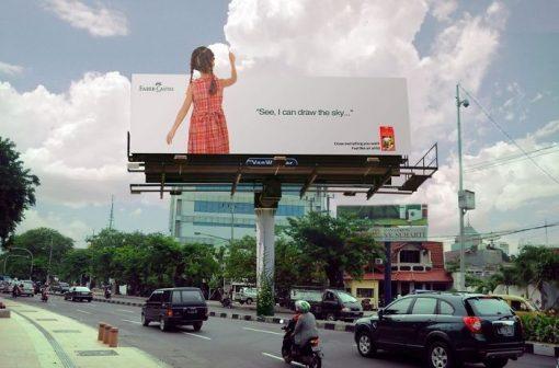 بیلبورد تبلیغاتی کستل | مداد رنگی | آیمارکتور