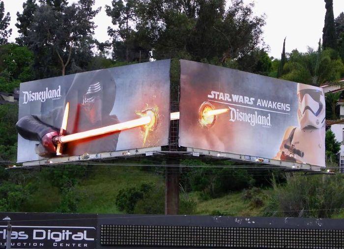 بیلبورد تبلیغاتی دیزنی لند : جنگ ستارگان   آیمارکتور