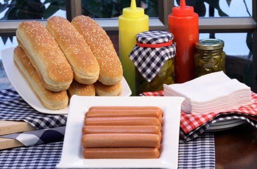 هات داگ هاینز : به تعداد مساوی نان و هات داگ در بسته قرار دهید   آیمارکتور