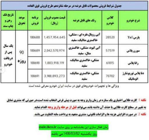 بخشنامه فروش فوق العاده مرحله شانزدهم ایران خودرو