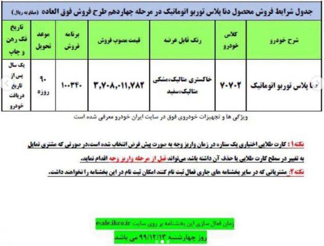 بخشنامه فروش فوق العاده مرحله چهاردهم ایران خودرو