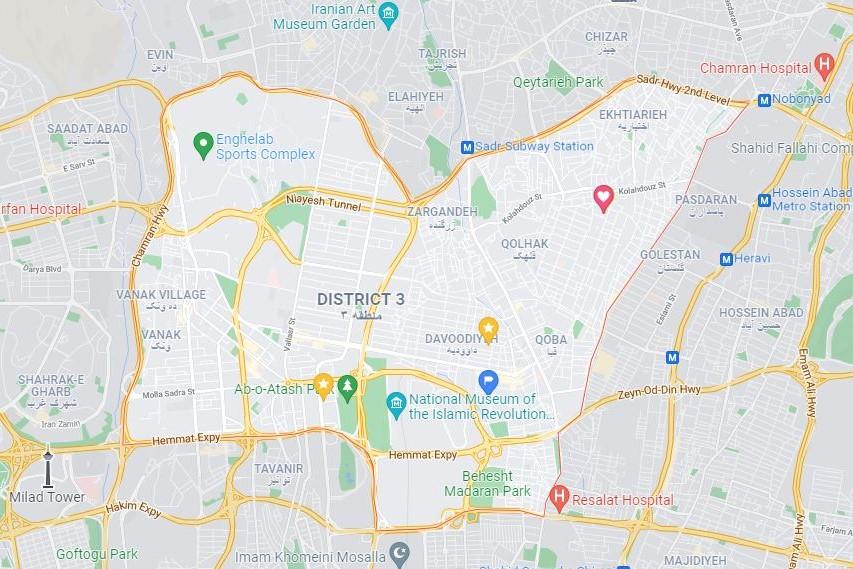 مراکز واکسیناسیون منطقه سه تهران