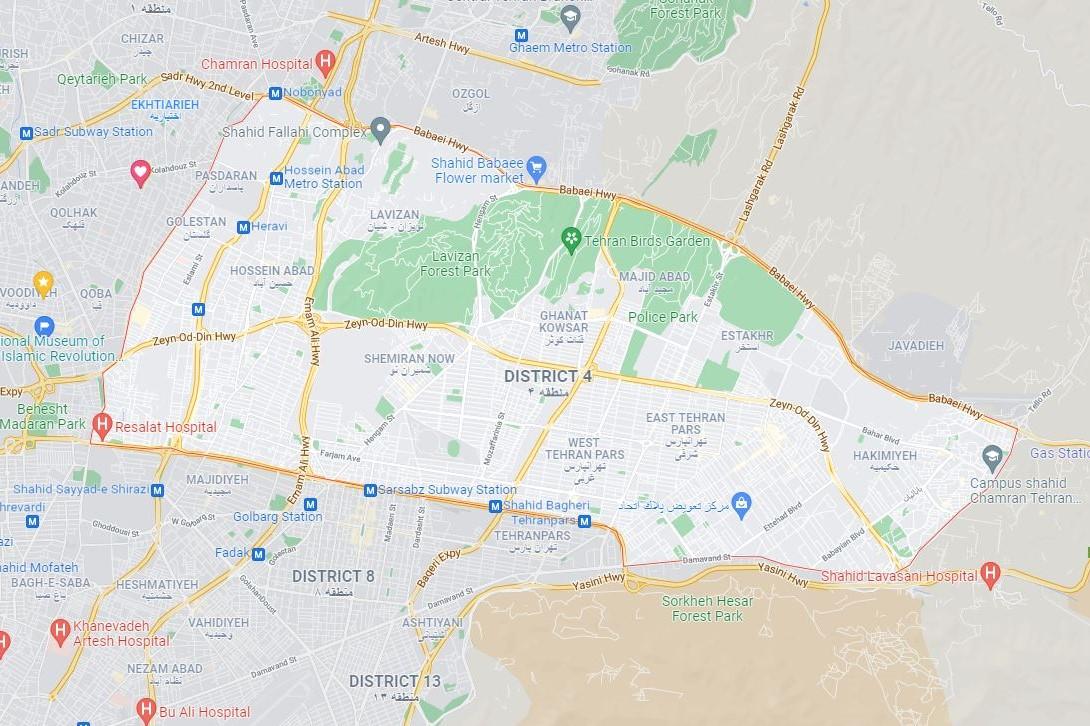 مراکز واکسیناسیون منطقه چهار تهران